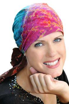 Cancer Patient Scarves  Cotton Batik Tie Dye Head Scarf Scarves For Cancer  Patients 1c6123b18b4