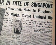 Newspaper announcing the tragedy