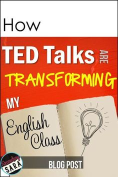 How TED is Transforming my English Class {plus FREEBIES! This post gives great ideas on how to get your middle school students ready to have their own TED conference at the end of the year. Middle School Reading, Middle School English, Middle School Classroom, English Classroom, Ela Classroom, English Teachers, Classroom Ideas, Education English, Teaching English