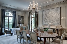A more formal dining room