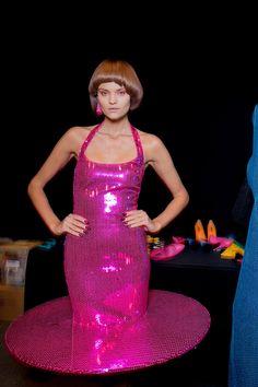 Kate Grigorieva for Jeremy Scott - backstage.