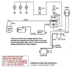 electrical schematic for 12 v ford tractor 8n - Google Search | 8n
