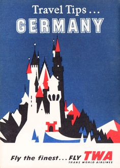 Travel tips... Germany — TWA booklet cover.