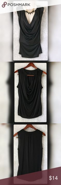"""New York Company XL Waterfall Neckline Top Pit to pit measures 24"""" Length 30"""" Gently Used with only flaw a small 1/2"""" pull as photographed on lower back of Top New York & Company Tops Blouses"""
