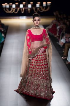 Celebrity Lehenga of Aliya Bollywood Actress. Price:- Free ship India Goregette lehenga with Net Dupatta ,,Work= Embroidery Zari work. Row silk Blouse with Worked Sleeve. Indian Attire, Indian Wear, Indian Style, Indian Ethnic, India Fashion, Asian Fashion, Ethnic Fashion, Women's Fashion, Pakistani Outfits