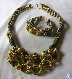 Collar con argollas y cordón trenzado - Farfalla Costa Rica - Insumos Para Fabricar Joyería