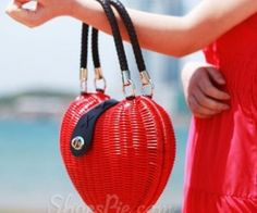 Shoespie Red Heart  Tote  Beanch  Handbag   spenditonthis.com