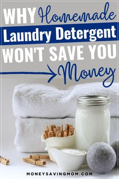 Have you been making your own homemade laundry detergent, hoping it would help out on your grocery bill? Read this as to why it's not saving you money. Tons of great info here!! #homemadelaundrydetergent #savingmoney #frugaltips #budgetgrocerylist