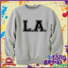 L.A. Los Angeles Swag Dope Fresh College Letterman Letters American Sweatshirt  Our Price: £19.97