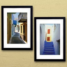 The Streets of Nisyros Poster ZRC612 by PortofPrints on Etsy