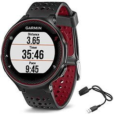 Garmin Forerunner 235 GPS Sport Watch  Marsala  Charging Clip Bundle includes Forerunner 235 GPS and Charging Clip * Read more at the image link.