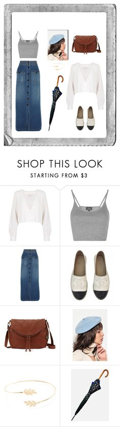"""""""Untitled #4"""" by krystalyuke ❤ liked on Polyvore featuring Polaroid, Stone_Cold_Fox, Topshop, Chloé, Chanel, The Sak, Front Row Shop, Accessorize and FOSSIL"""