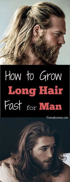 How to Grow Long Hair for Men - 10 Tips for Healthy Hair hair men Growing Long Hair Men, Long Curly Hair Men, Grow Long Hair, Haircuts For Long Hair, Haircuts For Men, Long Hair Man, Short Hair, How To Long Hair, Hair Growing Tips