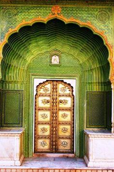 ornate doorway in India