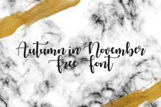 DLOLLEYS HELP: Autumn in November Free Font
