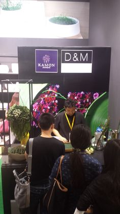 Japanese florist, from KAMON at D&M booth, Furniture China, in Shanghai, Sept 2014.