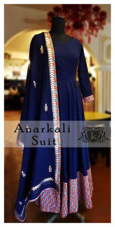 Ethnicwear Traditional Wear Cotton Suit Indian Couture Kurti Blue Suit Anarkali Suit Ladies Suit Fall Winter 2017  kayadesignerlounge kdllifestyle kaya Designer Lounge kdl Lifestyle