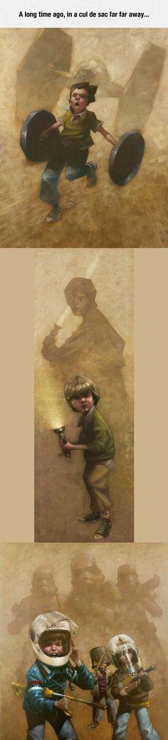 Star Wars Childhood, Really Captures The Spirit Of Imagination