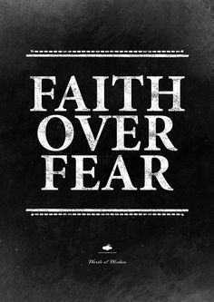 Faith over fear word art. Inspirational wall decor from InstantQuotes: just download, print and enjoy.