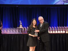 Great shot of a Ketchum member accepting one of our 14 Silver Anvil awards!
