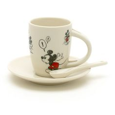 Mickey Mouse Comic Strip Espresso Cup Set