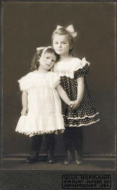 +~+~ Antique Photograph ~+~+  Sisters in tender pose