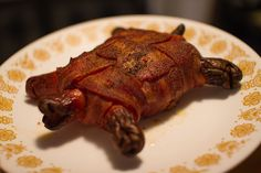 Bacon Turtle   I am actually not toooooo sure of this.. Almost looks like the real thing sorta!!