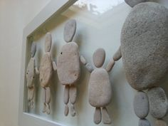 Pebble art Stone art Pebble picture Unique gift Beach by AyalaMor