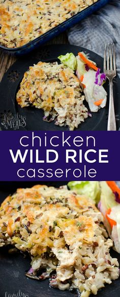 Chicken Wild Rice Casserole Recipe - FamilyFreshMeals.com