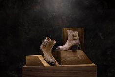 Catalina is a short Western bootie. Stylish features include an asymmetrical top line, two adjustable ankle strap buckles, an inside zipper, and soft cowhide leather. Handmade in Mexico. Cowboy And Cowgirl, Cowgirl Boots, Asymmetrical Tops, Women's Boots, Cowhide Leather, Ankle Strap, Mexico, Booty, Zipper