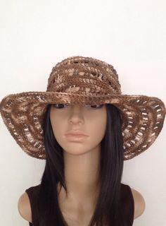 4747f278dff Hemp Summer Hat .... Crochet Cowboy by GloriasHandCreations Crochet Cowboy  Hats