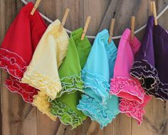 Shorties.  $20 each if you buy two or more.  =)  Getting yellow, aqua and green.