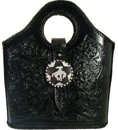 ༻⚜༺ ❤️ ༻⚜༺ Crystal Bucking Bronc Black Floral Purse ༻⚜༺ ❤️ ༻⚜༺