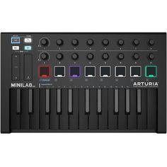 MiniLab MkII Deep Black is tiny. Launchpad Mk2, Novation Launchpad, Midi Keyboard, Studio Headphones, Ableton Live, Deep, Digital, Music, Black