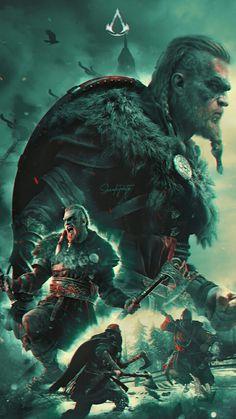 Assassins Creed Wallpaper Iphone, Assassin's Creed Wallpaper, Marvel Wallpaper, Best Assassin's Creed, Ps4, Arte Assassins Creed, Video Game Art, Video Games, Viking Runes
