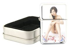 Windproof  Refillable Stainless Steel Oil Lighter With Gift Case Sexy Asian Girl Design ItemOL1211142525 >>> Want to know more, click on the image.