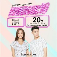 Padini Online 10.10 Sale from 8 October 2021 until 10 October 2021 Fashion Sale, October