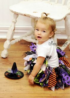 Witch Fabric Scraps Tutu Skirt Halloween MADE TO ORDER size newborn to 4T on Etsy, $24.99