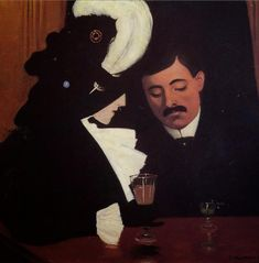 By Félix Vallotton, 1909, At the Café, oil on canvas, Private collection.