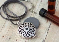 Essential Oil Diffuser Necklace with Clay Discs for Aromatherapy. Pretty and functional for aromatherapy wherever you are.  by SimplyMoments4
