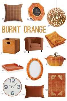 orange accessories for living room. one of the quintessential colors fall  hello orange Burnt Orange Color Inspiration Bright Bold and Beautiful