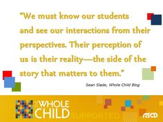 Sean Slade, What the Kids Think, Whole Child Blog Post
