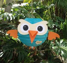 Cute Hoot owl DIY party lantern by GOTMEPEGGED from Caloundra, $15.95. Make them up for a Baby boy party decoration maybe? i reckon so.