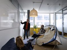 Google Office In Zurich, they are working in a frigging boat!