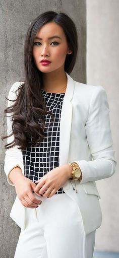 New style street chic white tops 19 Ideas Business Chic, Business Outfit, Business Fashion, Look Office, Office Looks, Street Style 2014, Street Chic, Office Fashion, Work Fashion