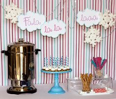 Hot cocoa bar!