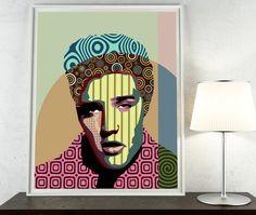 Elvis Presley Poster, Rock n Roll Art Decor, Elvis Presley Gift, Elvis Print, Super Star Pop Art Poster, Elvis Art, Giclee Print    AVAILABLE $15
