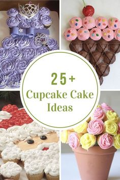 Cupcake Cake Ideas Cupcake Cakes are quite easy to make and look like you put a ton of time and work into it. Sharing a collection of Cupcake Cake Ideas that is sure to get you inspired for your next party. Butterfly Cupcake Cake, Cupcake Cake Designs, Diy Cupcake, Cupcake Recipes, Rose Cupcake, Turkey Cupcakes, Bunny Cupcakes, Easter Cupcakes, Ladybug Cupcakes