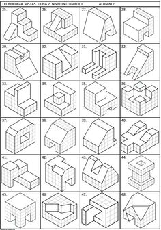99471959 Pin on CAD Practice drawings Isometric Sketch, Isometric Art, Isometric Design, Orthographic Drawing, Orthographic Projection, Isometric Drawing Exercises, Bilder Download, Interesting Drawings, Architecture Concept Drawings