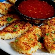 Coconut Chicken:  *Boneless, skinless chicken breast  *2 large eggs  *1/4 cup coconut milk-any milk will do  *1/2 cup flour  *1 cup panko bread crumbs (these work better then regular bread crumbs)  *1 cup shredded sweetened coconut  *1/2 tsp salt  *1/2 cup vegetable oil  *Sweet Chili Sauce for dipping